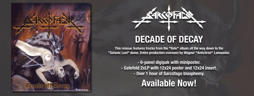 Sarcofago Decade of Decay